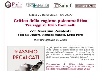 Presentazione libro Recalcati su Elvio Fachinelli